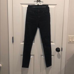 Black Topshop Moto distressed jeans